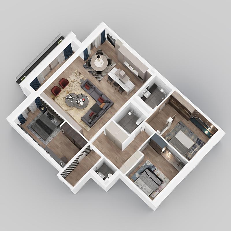 3D Prikaz - Stan F32.