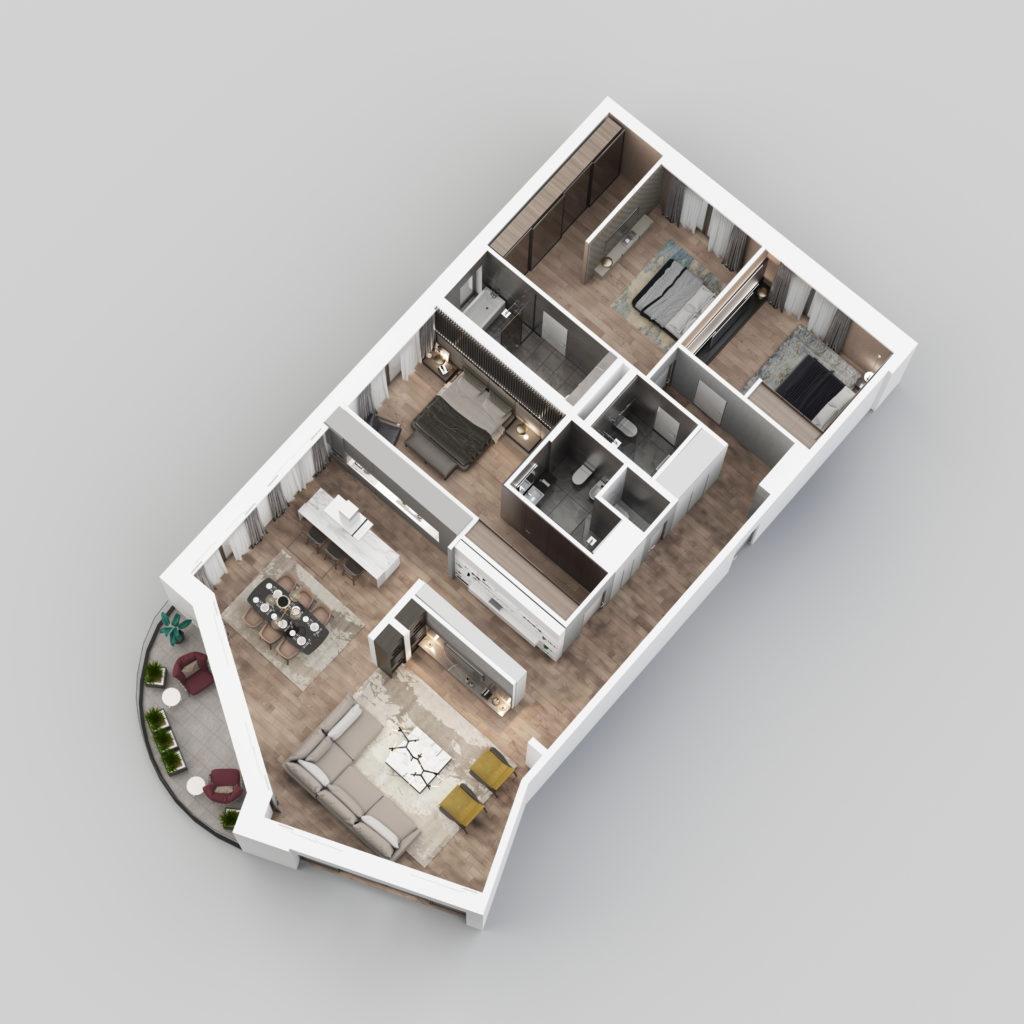 3D Prikaz - Stan E12.