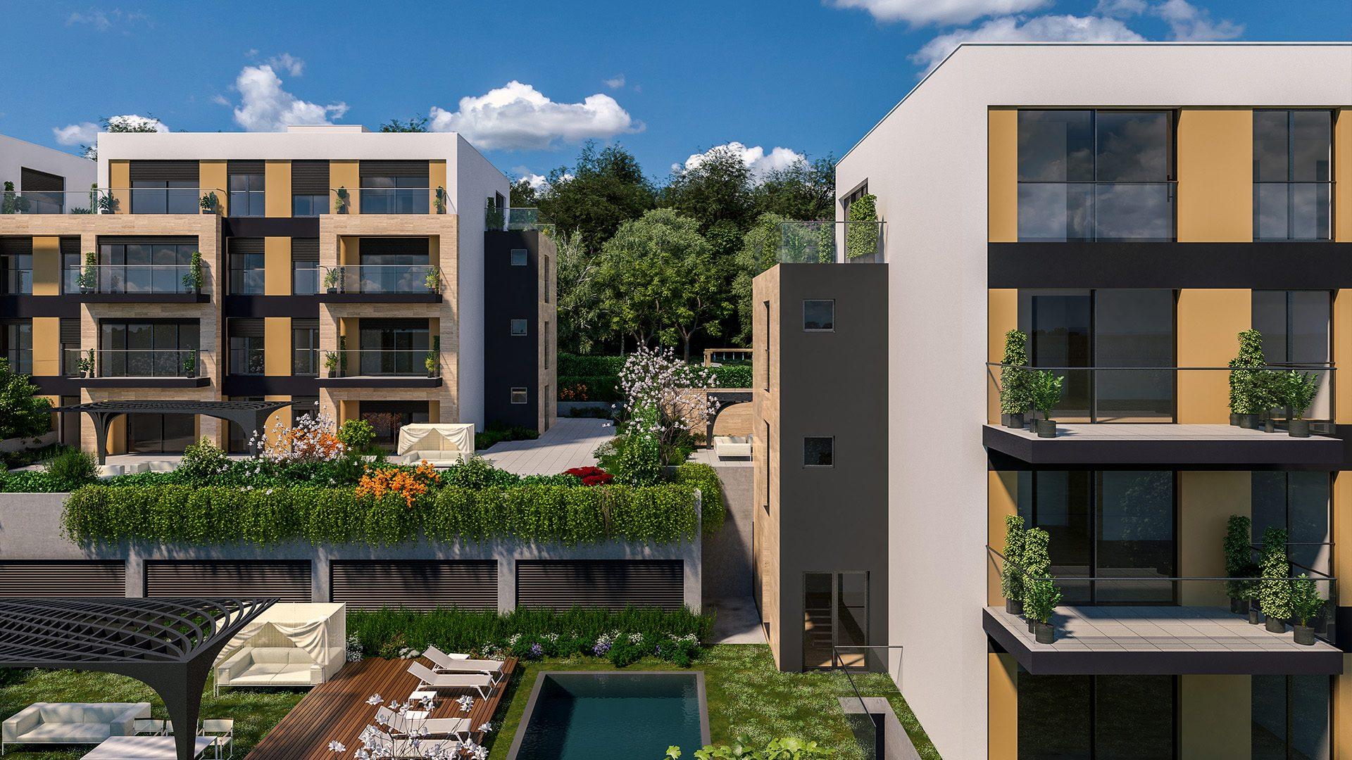 Prikaz A lamele stambenog kompleksa Green Hill Dedinje.