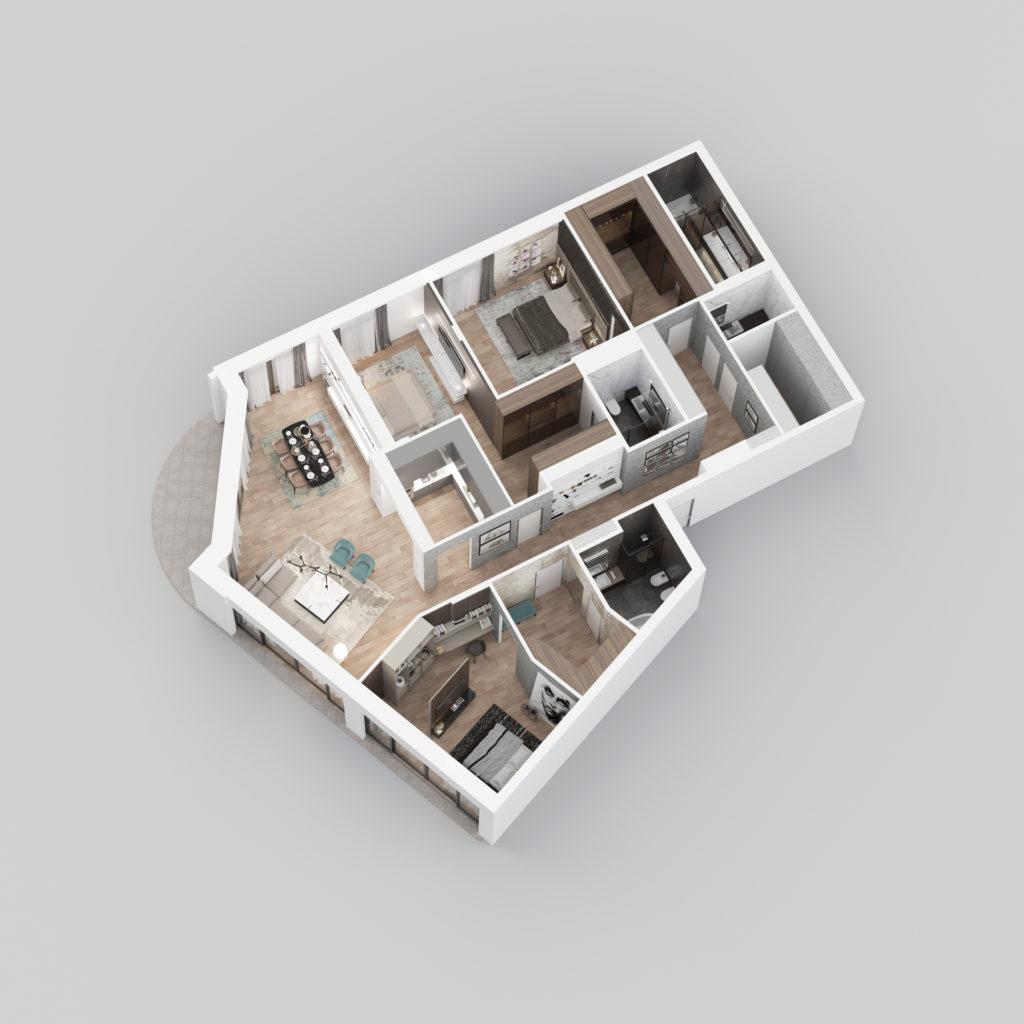 3D Prikaz - Stan E01.
