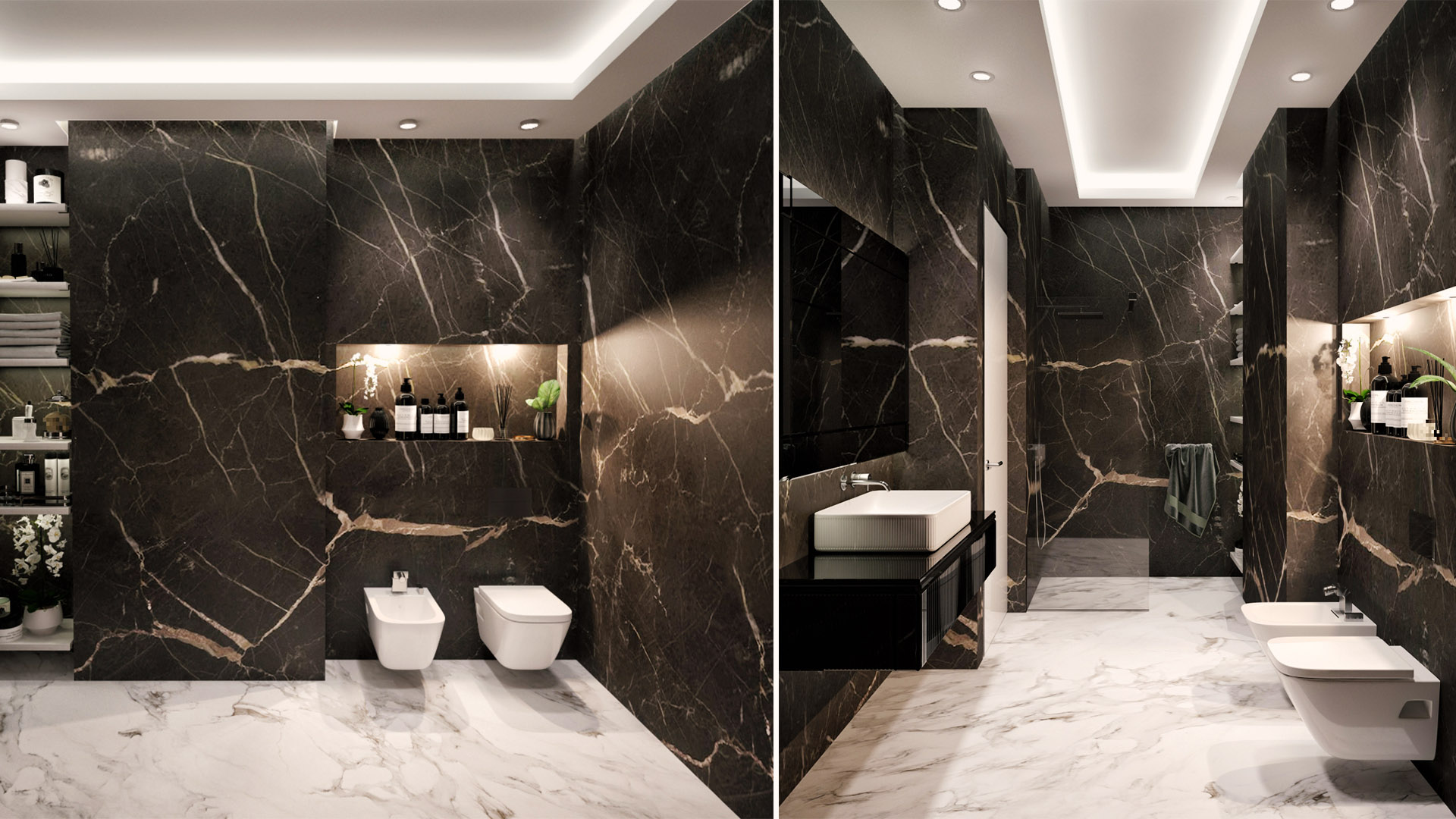 Render master kupatila - luksuzni rezidencijalni kompleks Green Hill Dedinje.
