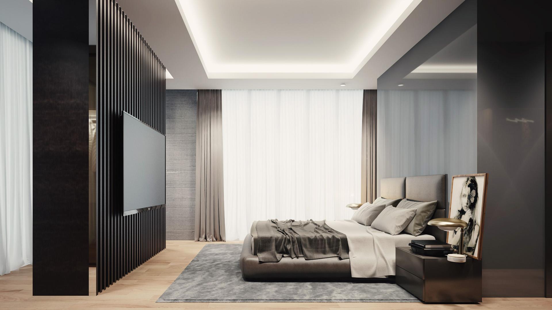 Enterijer master spavaće sobe - luksuzni rezidencijalni kompleks Green Hill Dedinje.