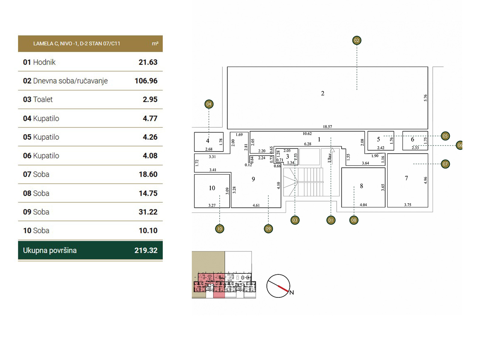 Osnova stana - Garden Vila C11.