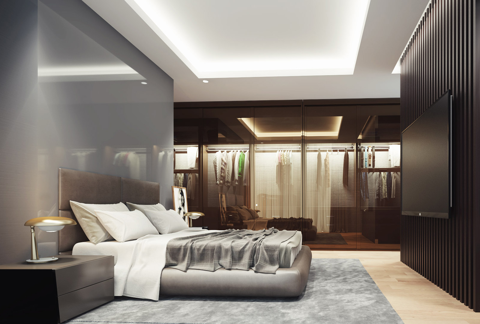 Render spavaće sobe - luksuzni stanovi Green Hill Dedinje.