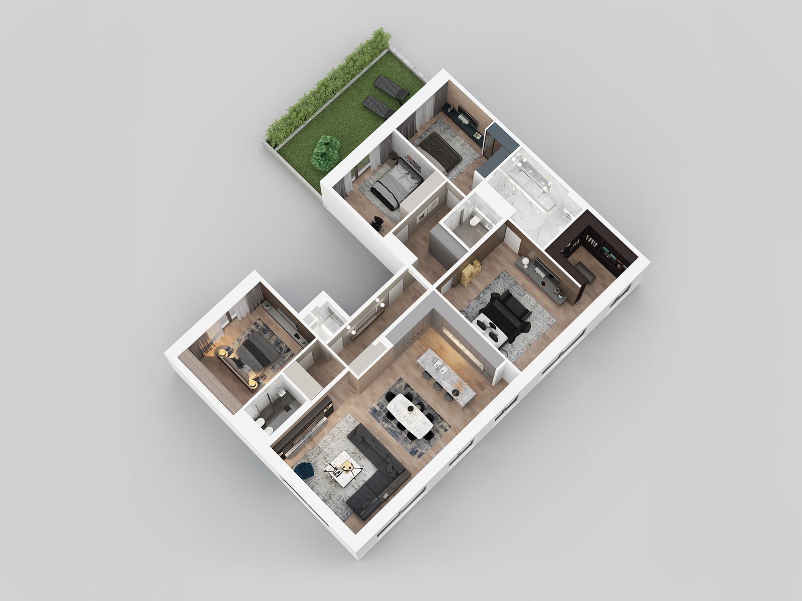 3D view - first floor G21.