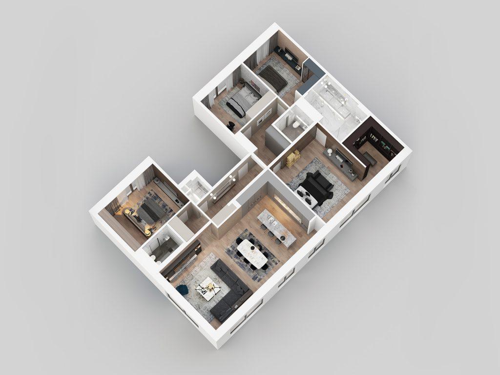 3D view - apartment G31.