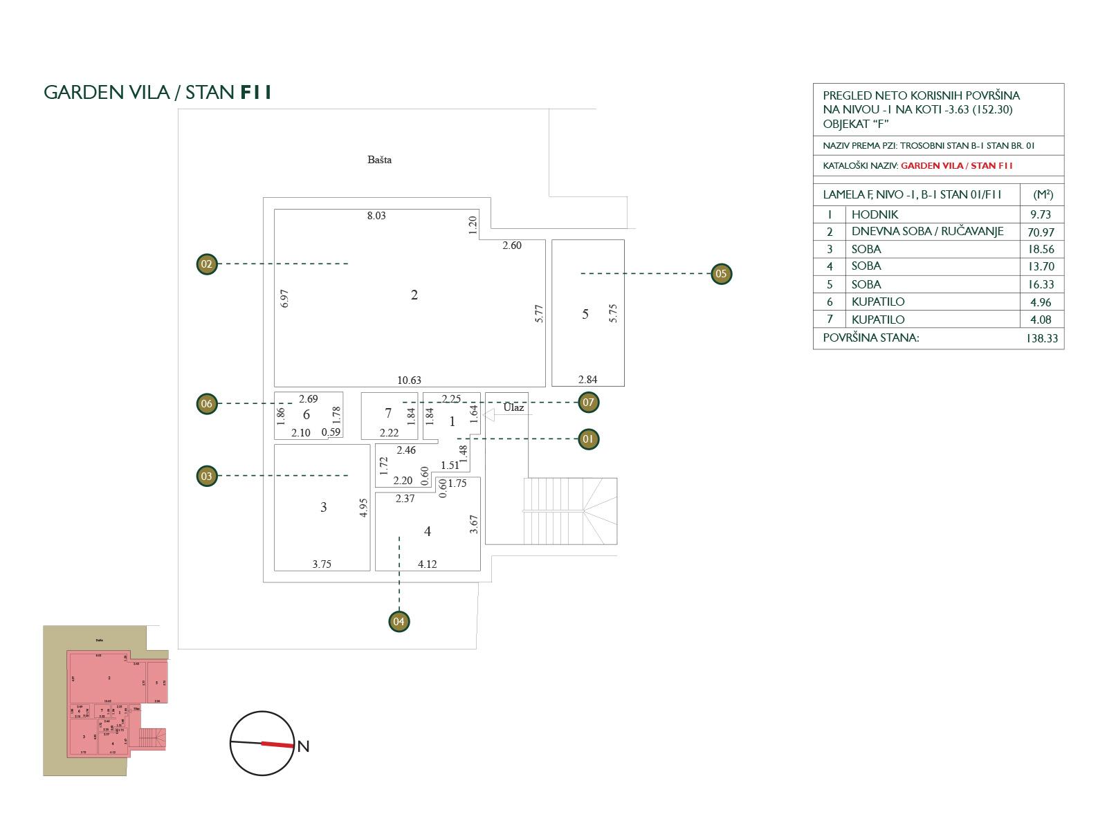 Floor plan - garden villa F11.