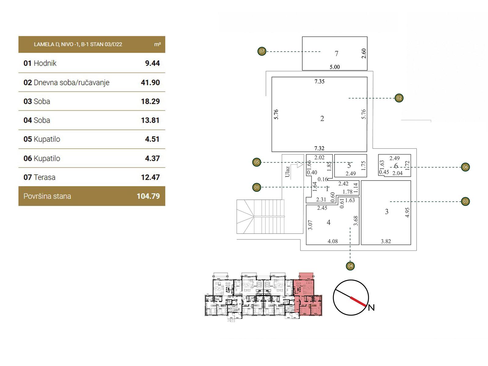 Floor plan - apartment D22.
