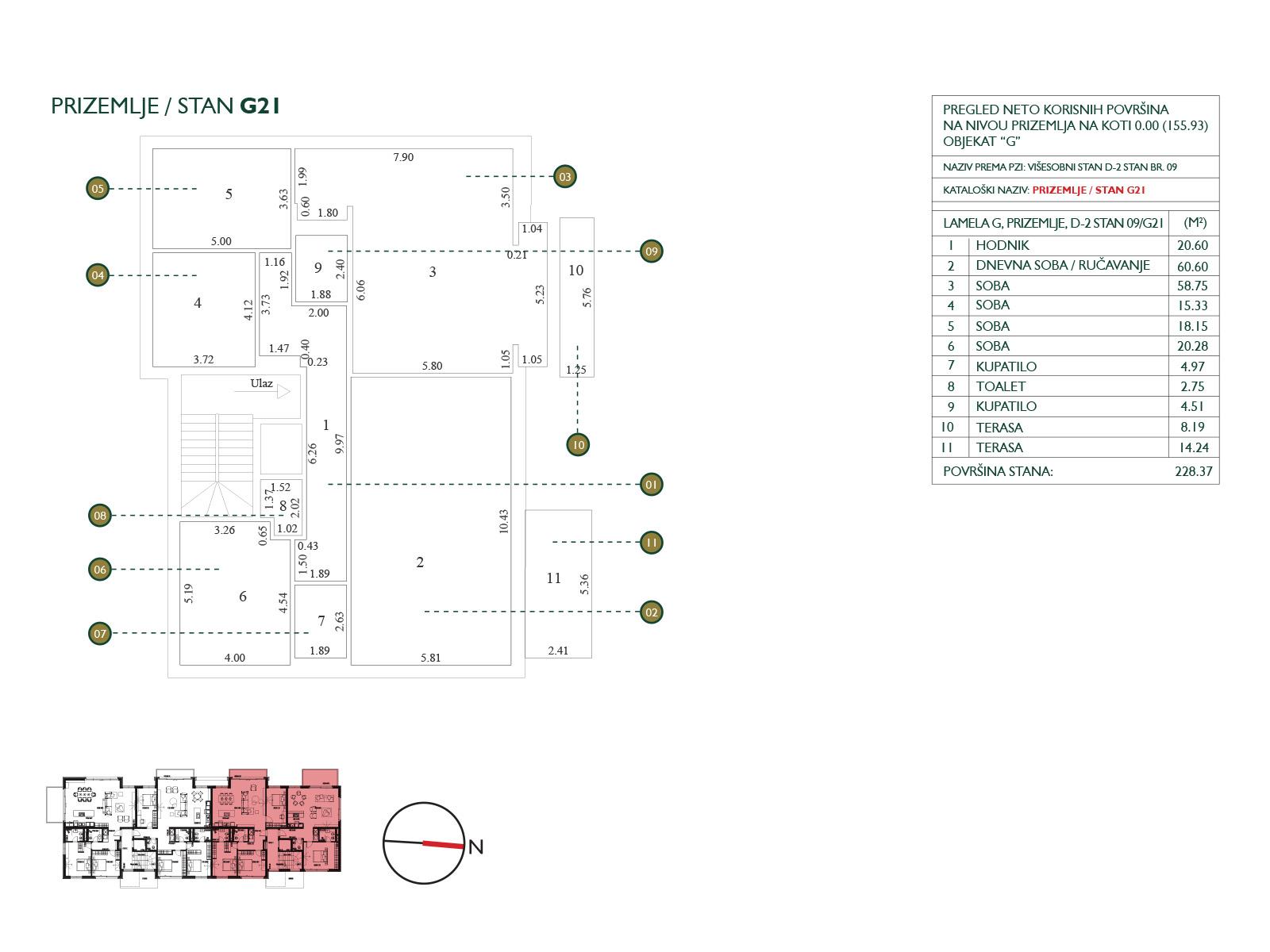 Floor plan - apartment G21.