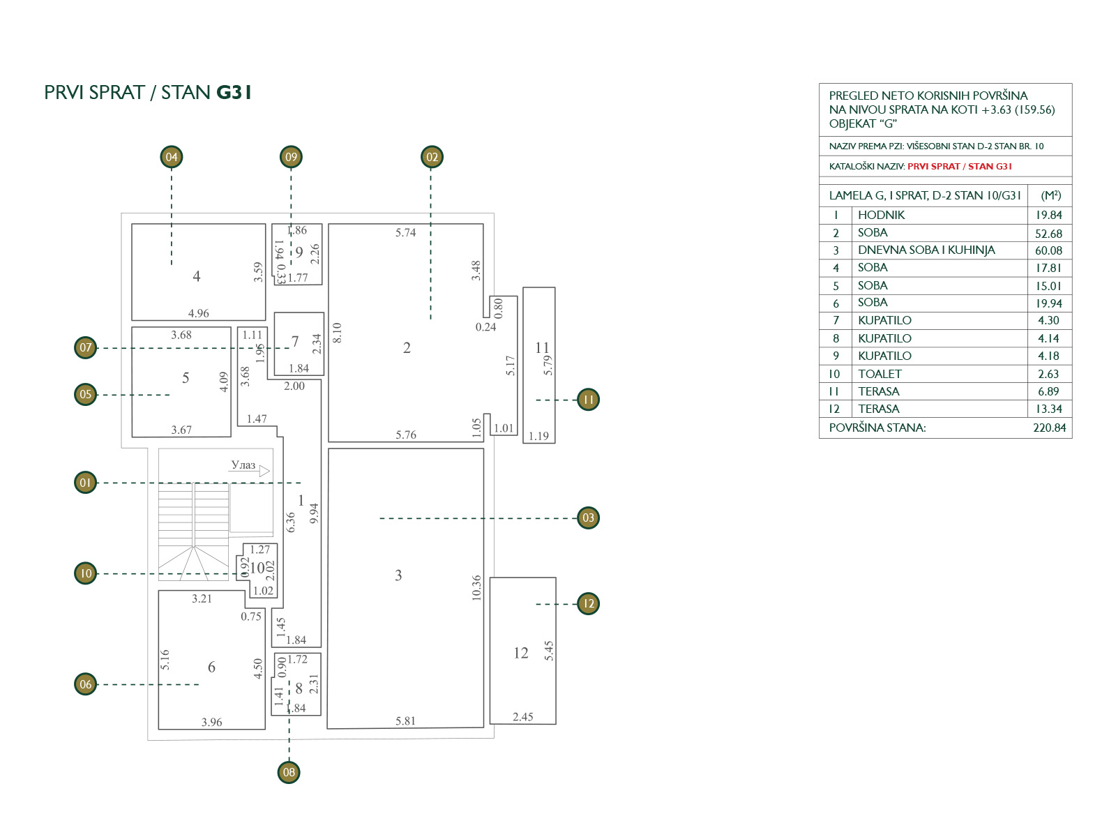 Floor plan - apartment G31.
