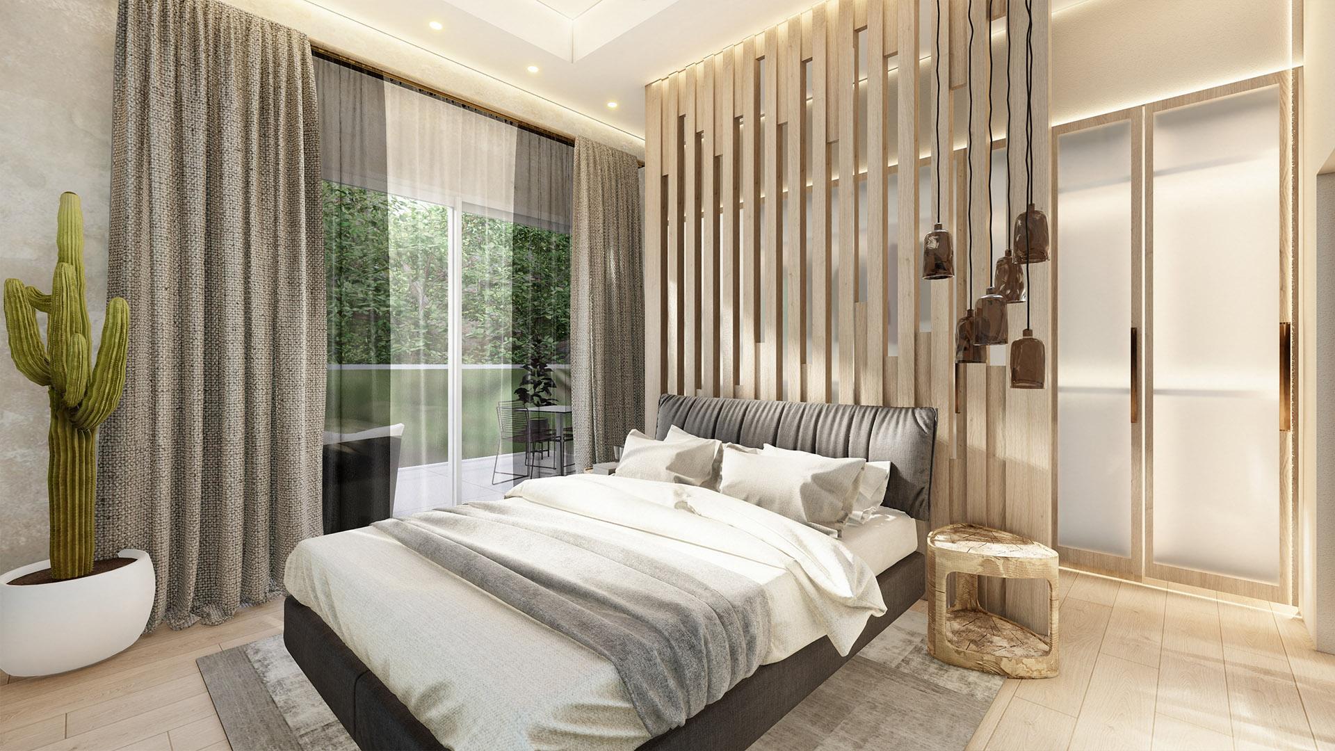 Prodaja stanova Green Hill Dedinje - spavaća soba, stan A41.