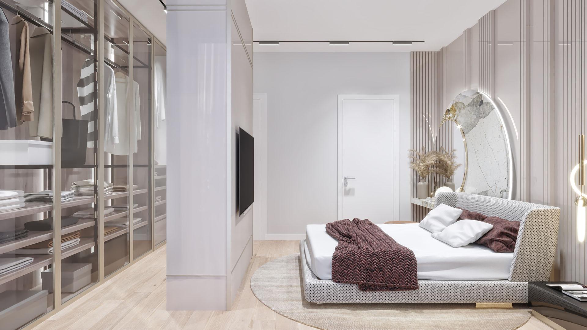 Prodaja stanova Green Hill Dedinje - master spavaća soba stana D41.