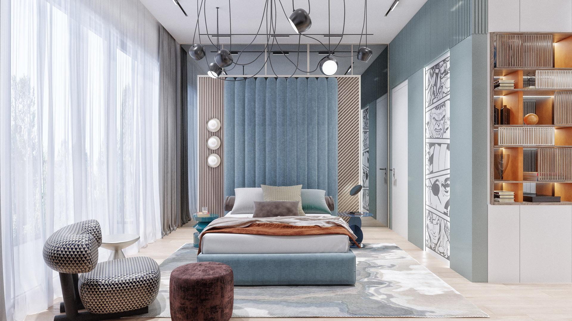 Prodaja stanova Green Hill Dedinje - dečija spavaća soba stana D41.