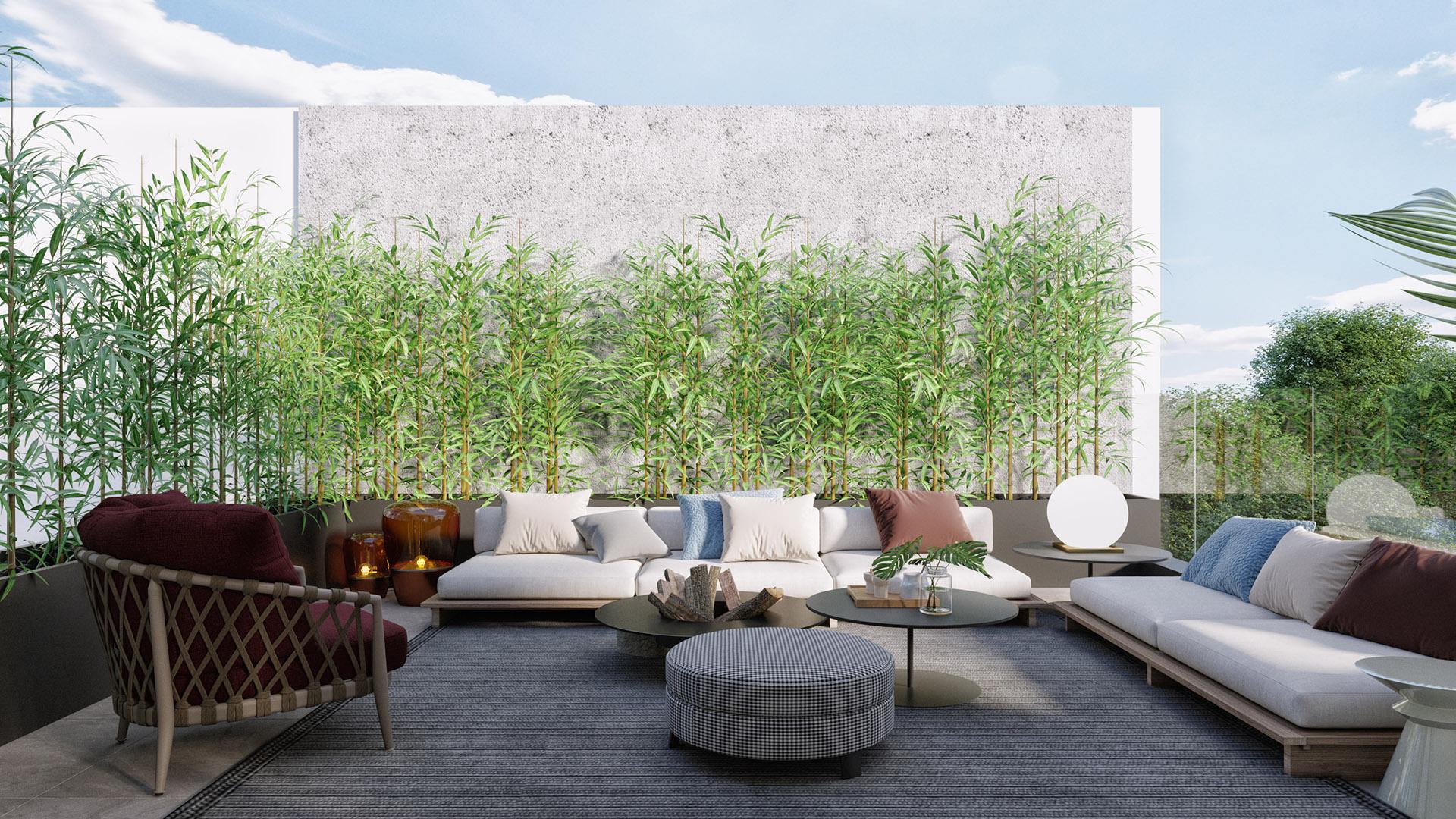Prodaja stanova Green Hill Dedinje - terasa, penthouse D41.