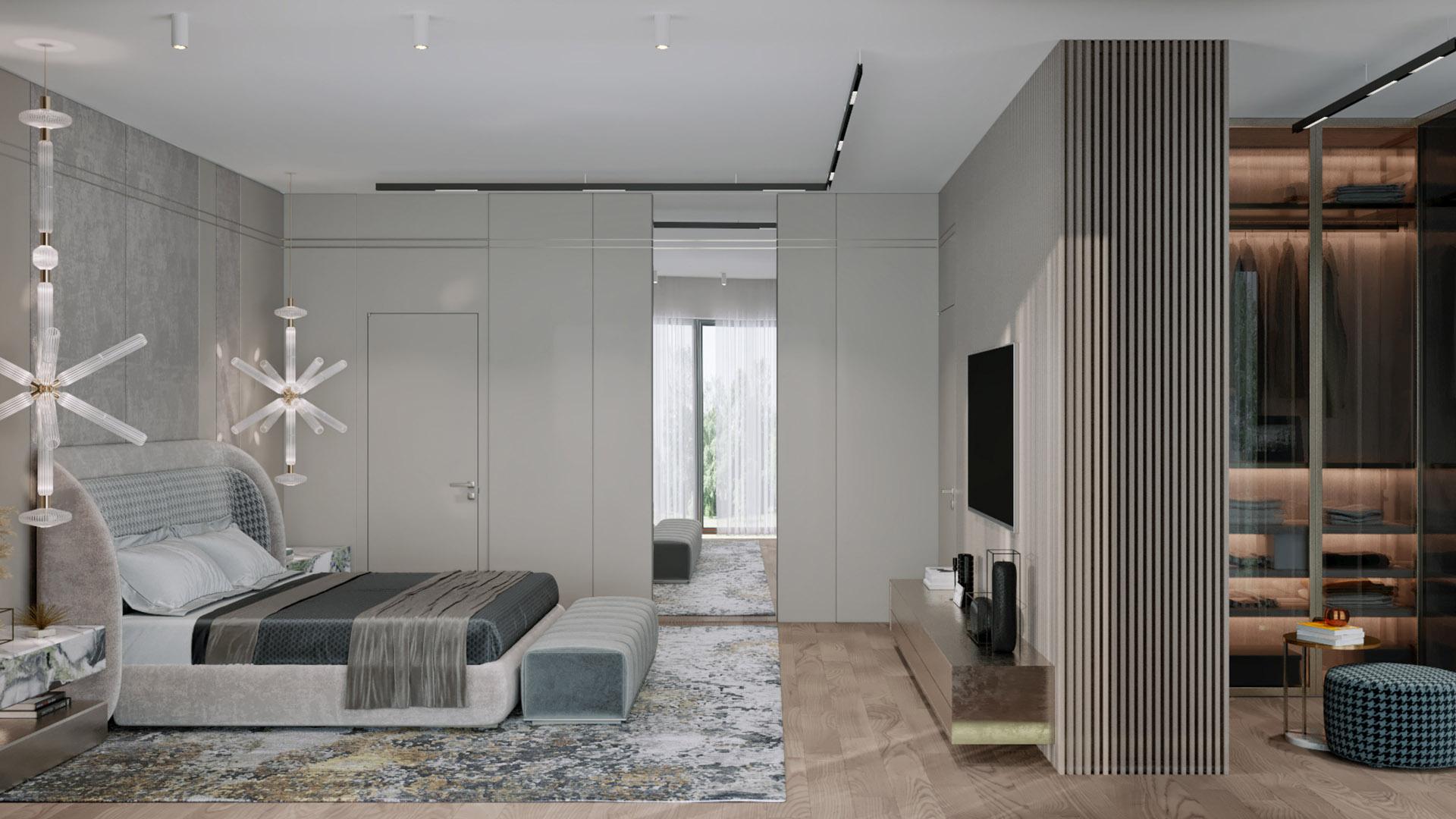 Prodaja stanova Green Hill Dedinje - master spavaća soba, stan G21.