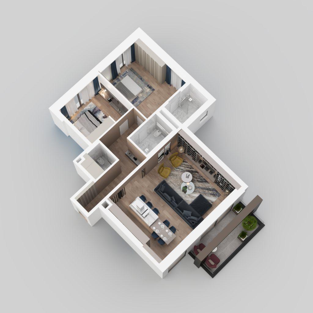 3D view - ground floor C21.
