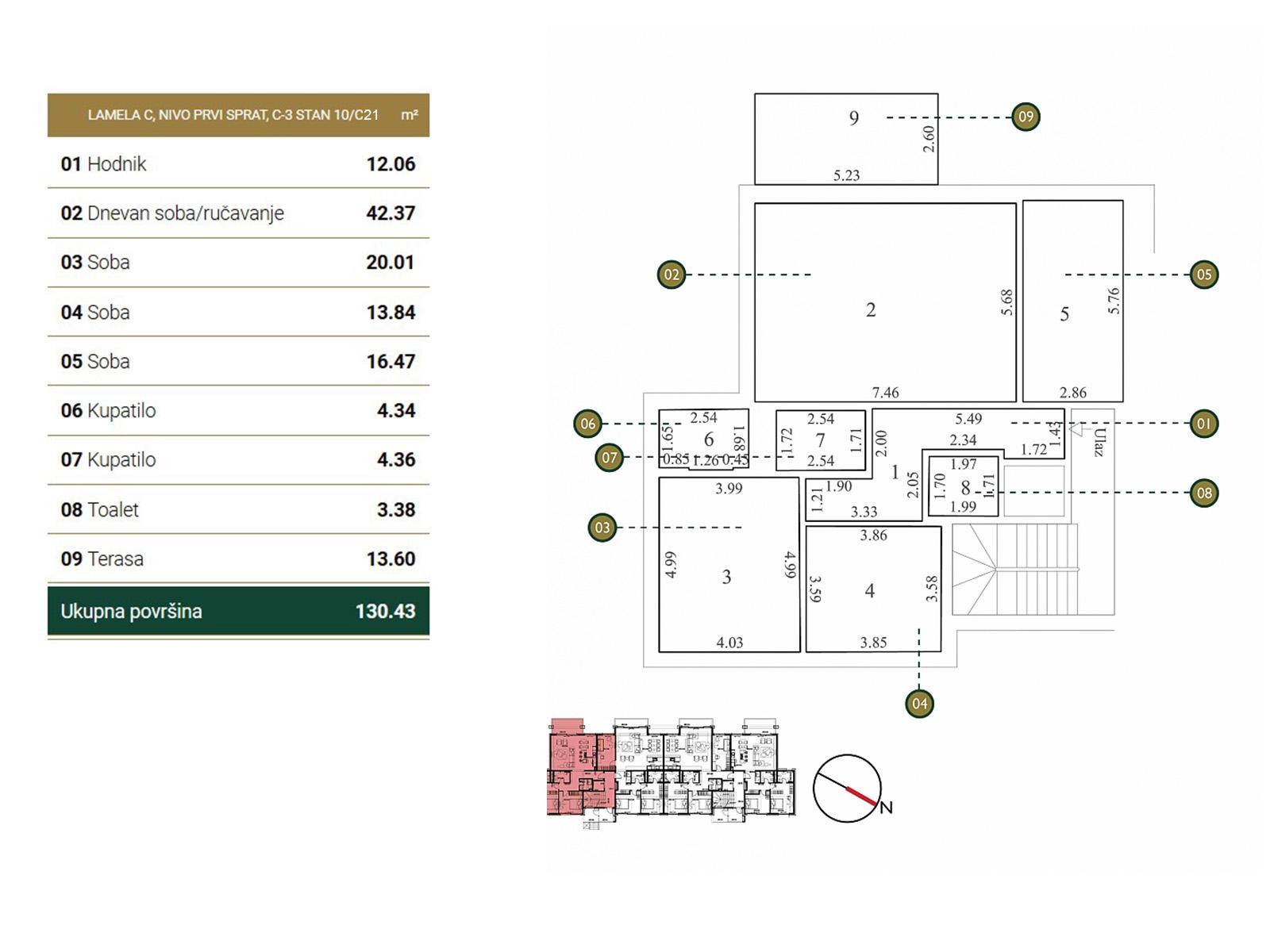Floor plan - apartment C21.