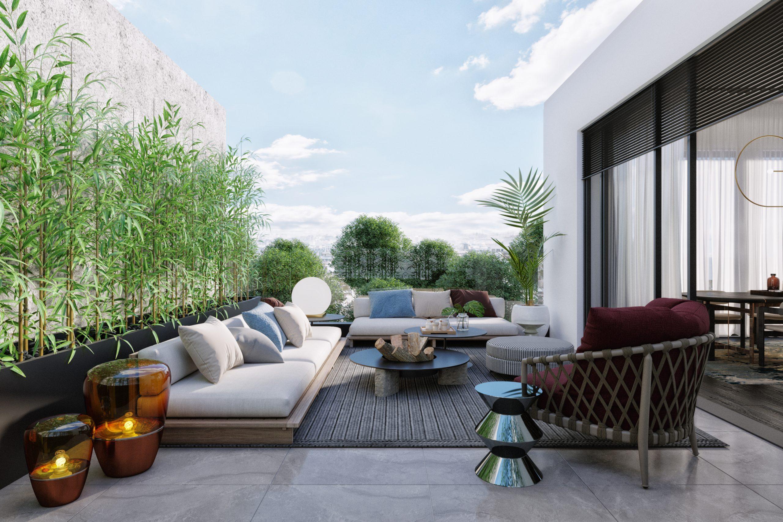 Terrace penthouse.
