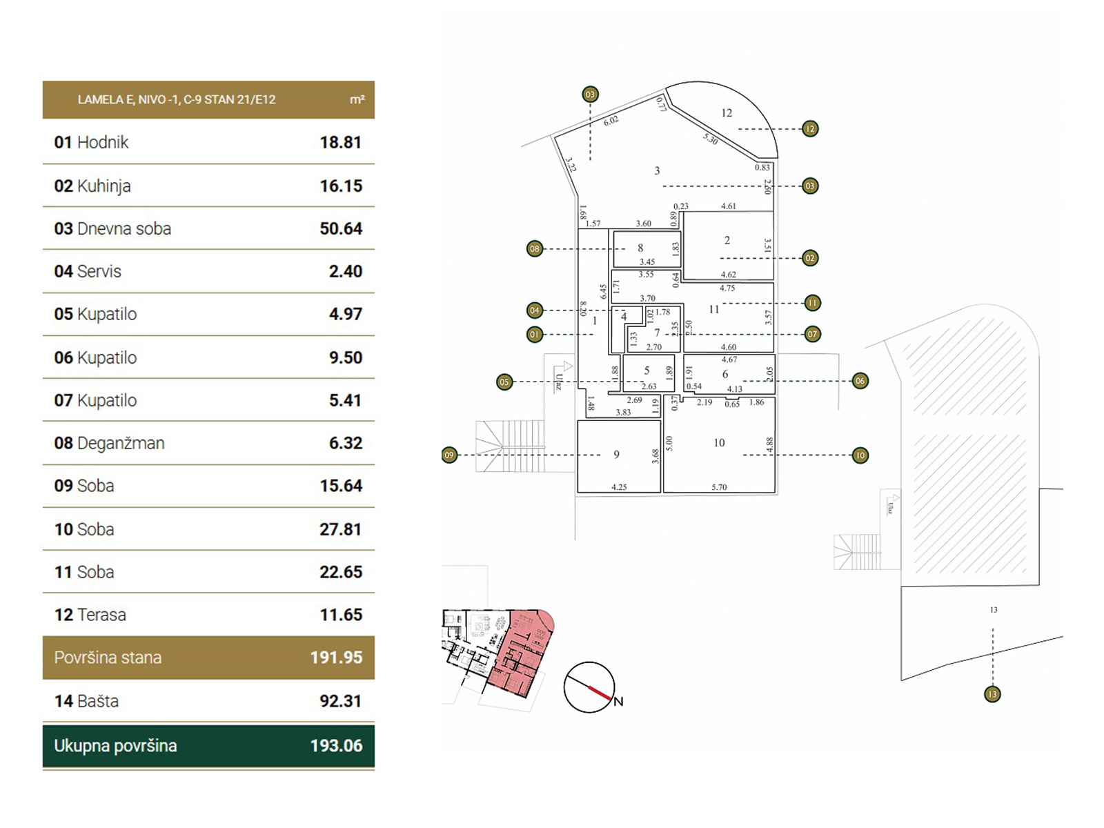 Floor plan - apartment E12.